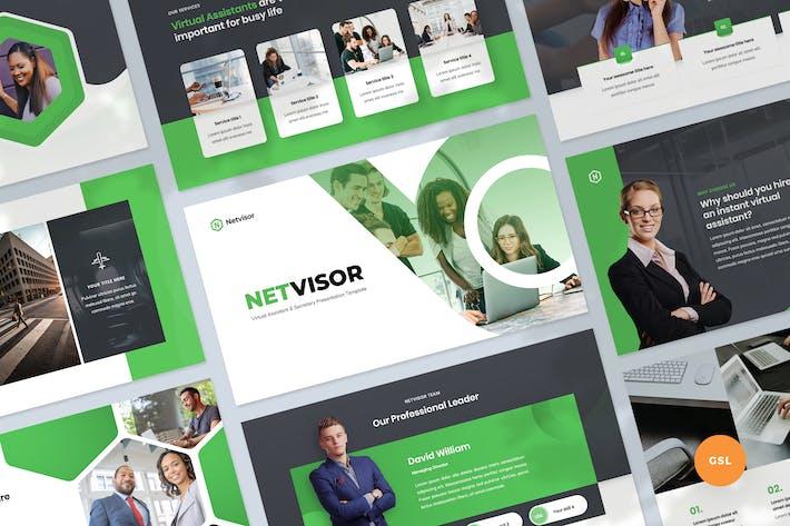 Thumbnail for Präsentation von PräsentationsVorlage virtuelle Assistenten