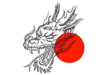 Dragon Stipple Tattoo