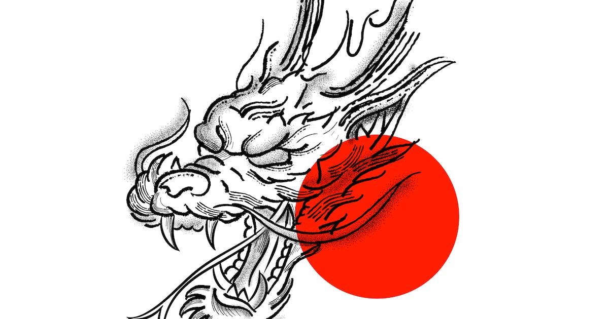 Download Dragon Stipple Tattoo by MissChatZ