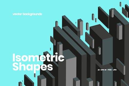 Isometric Geometric Shapes Backgrounds