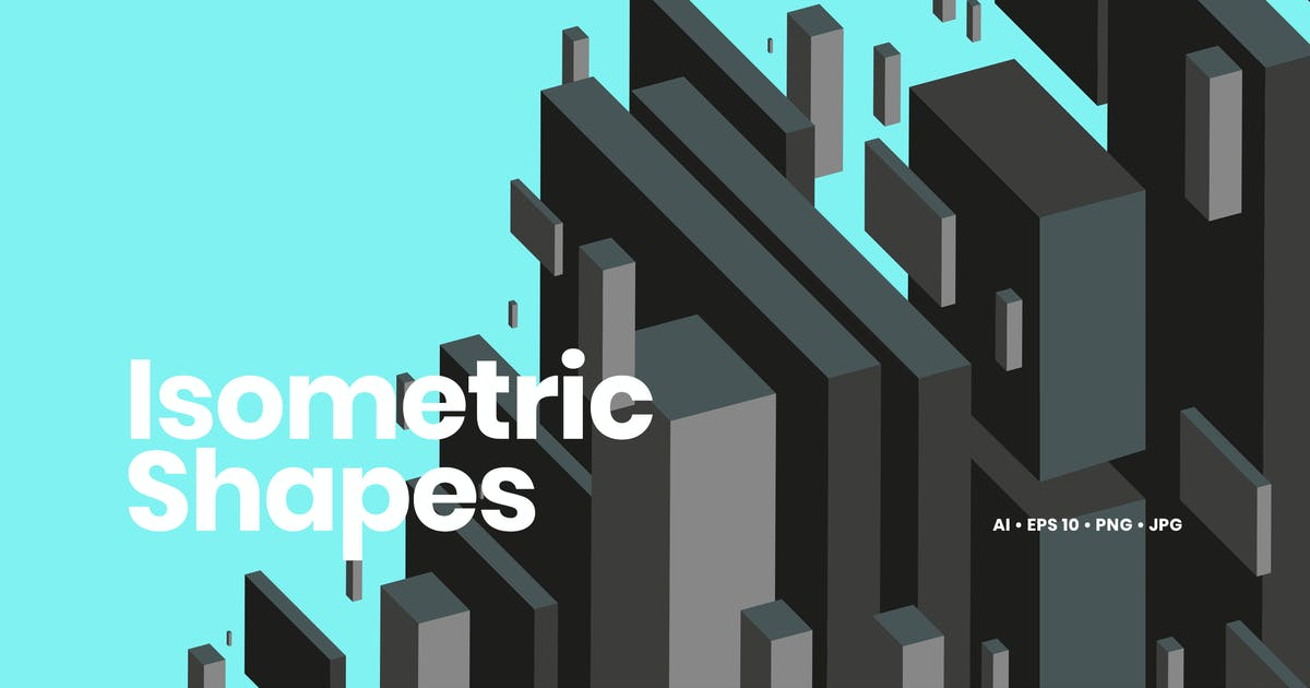 Download Isometric Geometric Shapes Backgrounds by themefire