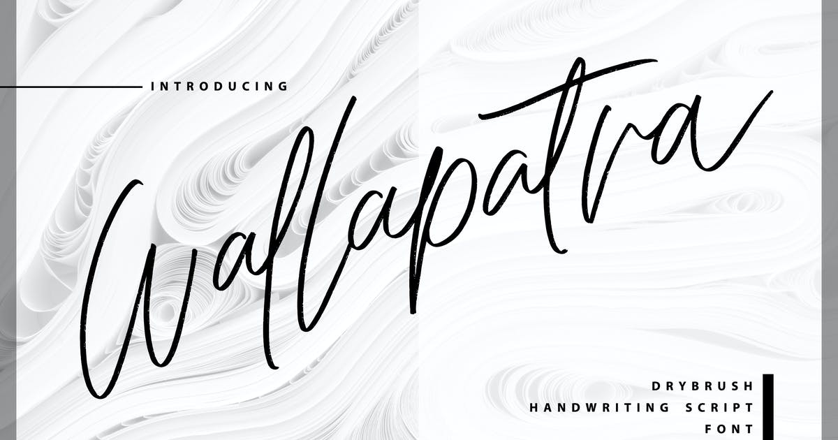Download Wallapatra   Drybrush Handwriting Script Font by Vunira