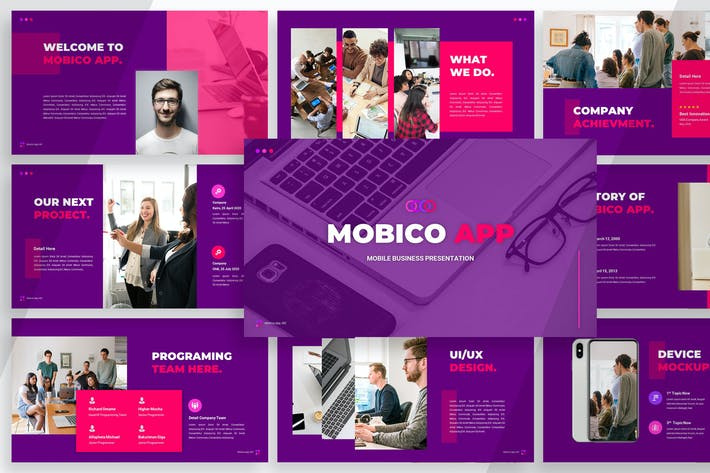 Thumbnail for Mobico App - Powerpoint