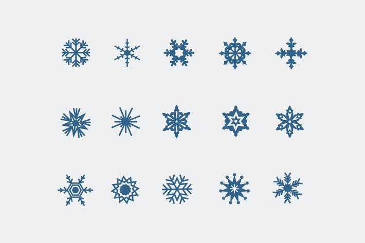 Cover Image For 15 Snowflake Icons