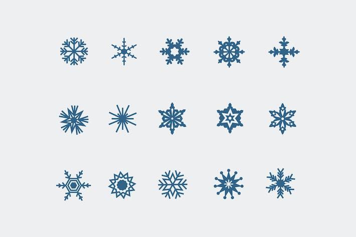 Thumbnail for 15 Snowflake Icons