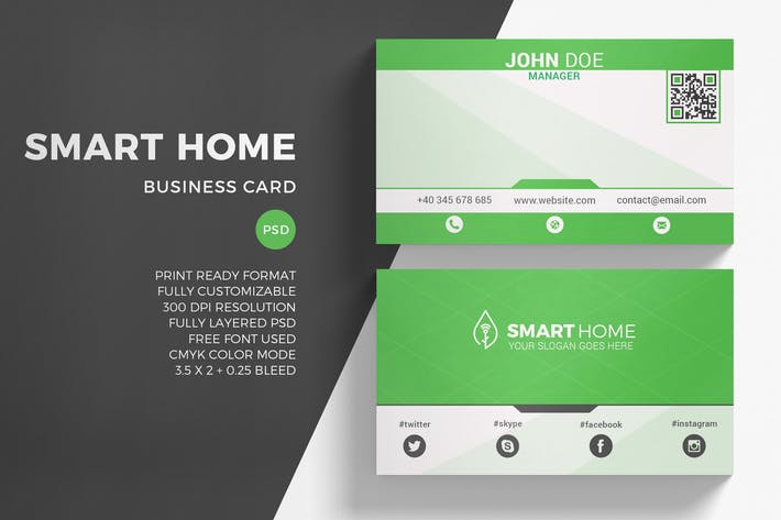 Thumbnail for Green Energy Business Card Template