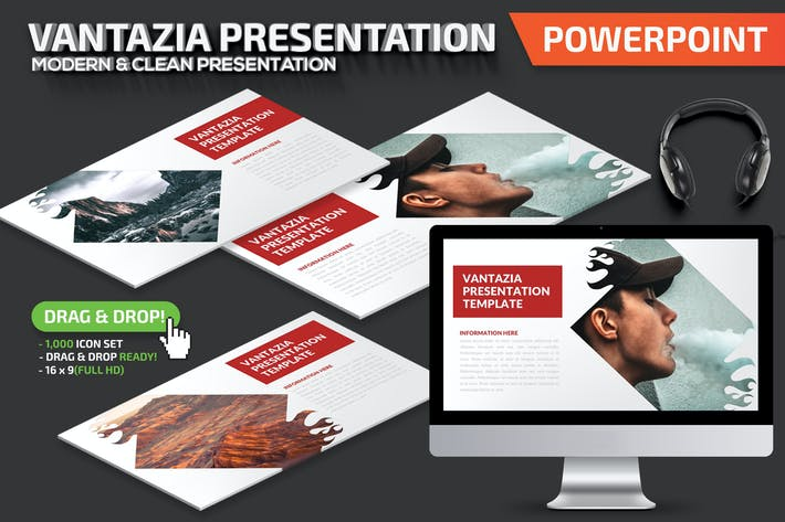 Thumbnail for Шаблон презентации Powerpoint Vantazia