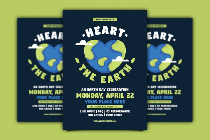 Thumbnail for Heart the Earth ( Earth Day ) Flyer