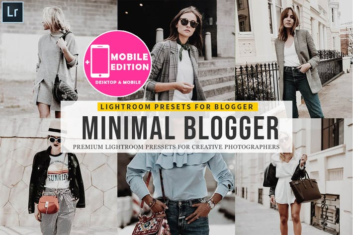 Thumbnail for Minimal blogger Lightroom Presets
