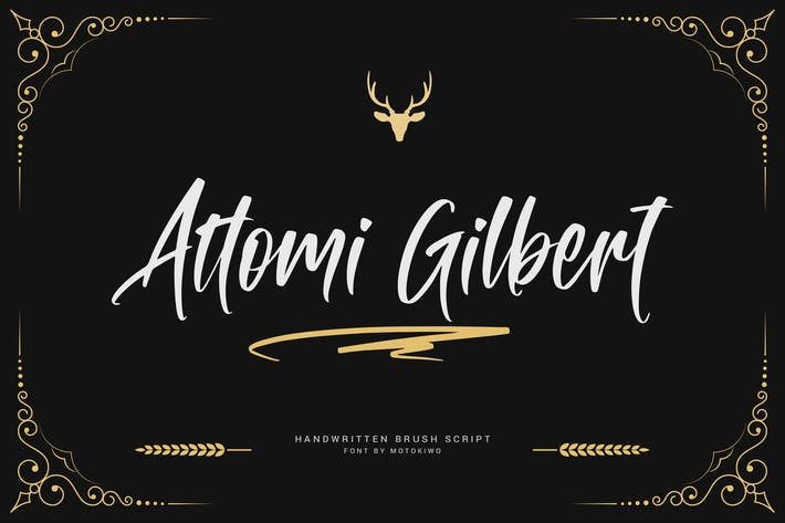 Thumbnail for Attomi Gilbert - Cool Handwritten Font