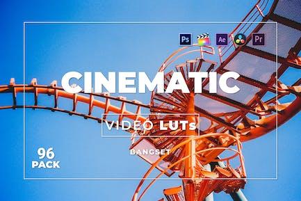 Набор кинематографических материалов Bangset 96 Видео LUTs