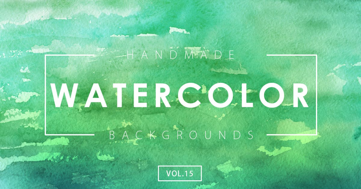 Download Handmade Watercolor Backgrounds Vol.15 by Unknow