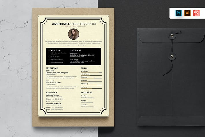 Thumbnail for Resume CV Template-67