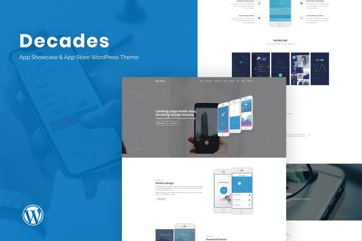 Thumbnail for Decades - App Showcase & App Store WordPress Theme