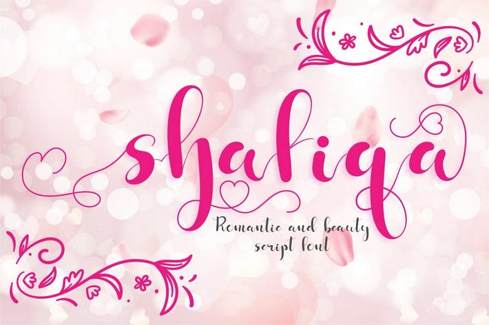Шафика - романтический шрифт