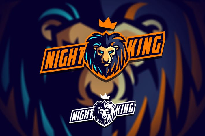 Thumbnail for Lion King Mascot Esports Logo