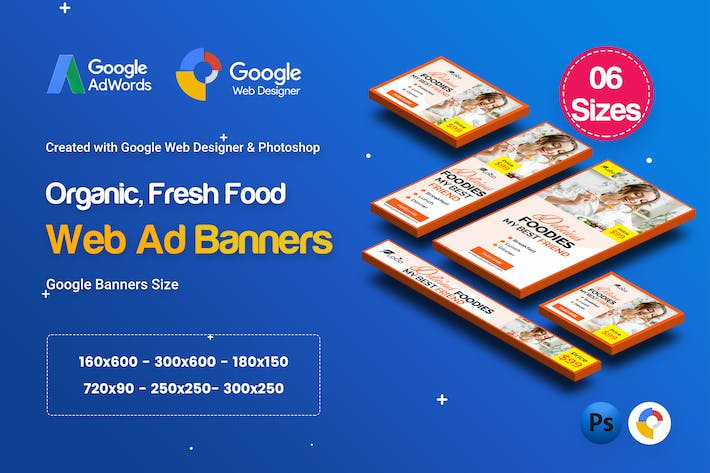 Thumbnail for C54 - Organic, Fresh Food Banners GWD & PSD