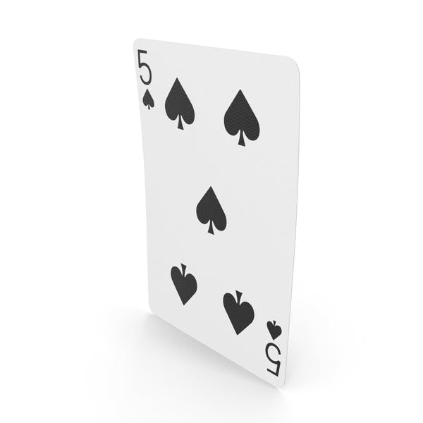 Playing Cards 5 of Spades