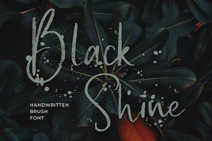 Black Shine Handwritten Script Brush Font