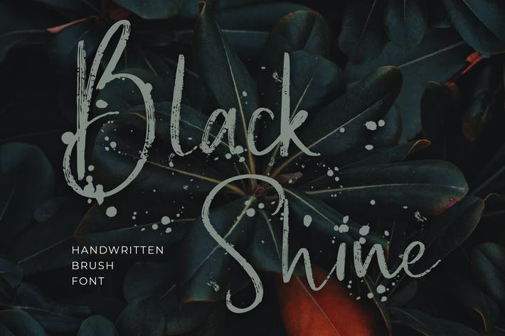 Thumbnail for Black Shine Handwritten Script Brush Font