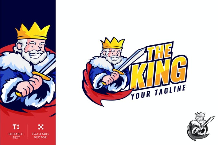 Thumbnail for The King Logo Illustration Vector