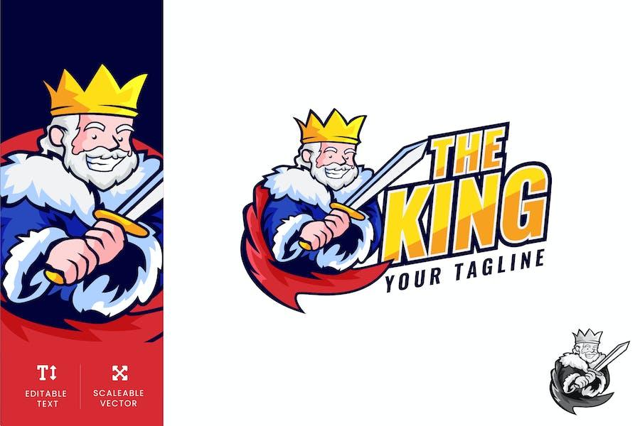 The King Logo Illustration Vector
