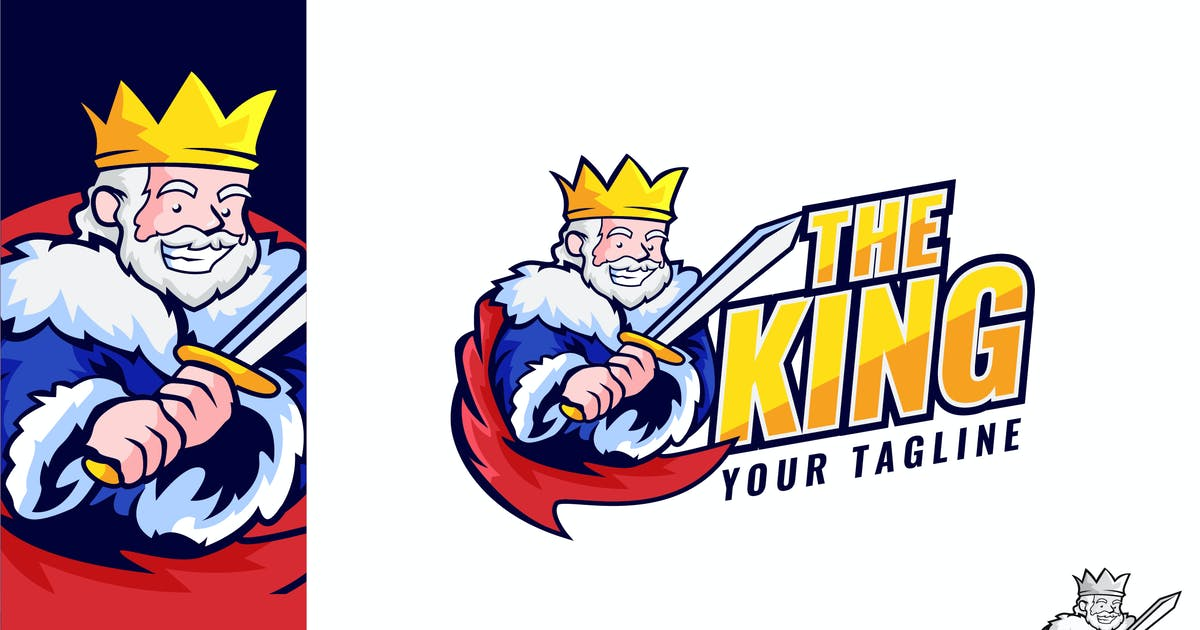 Download The King Logo Illustration Vector by naulicrea