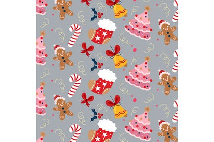 Christmas Holiday Seamless Pattern
