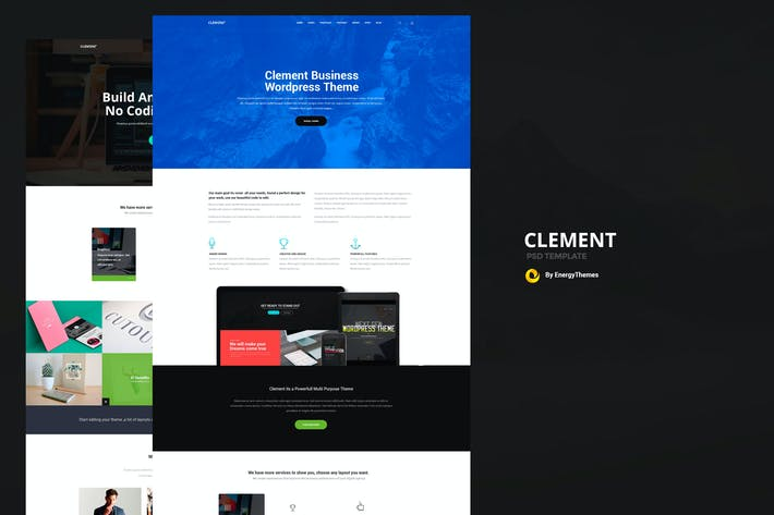 Thumbnail for Clement - Multi Purpose PSD Template