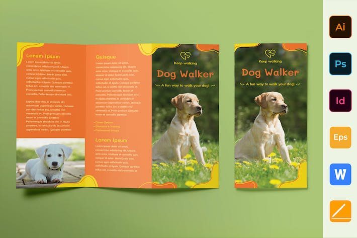 Thumbnail for Dog Walker Brochure Trifold