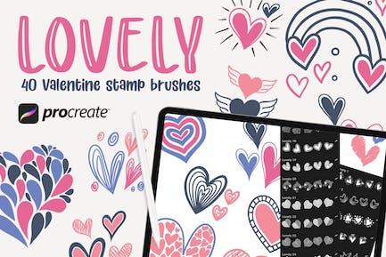 Lovely - 40 Stamp Brush Procreate