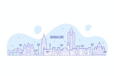 Bangalore skyline, India