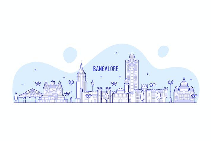 Thumbnail for Bangalore skyline, India