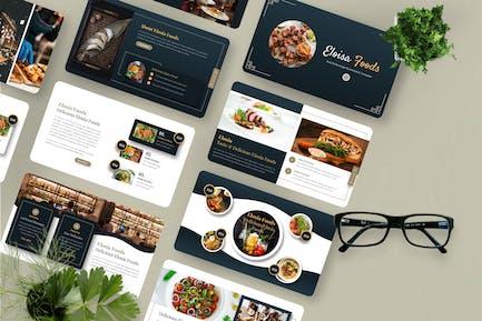 Eloisa - Food & Beverage Googleslide Template