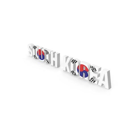 Südkorea Text