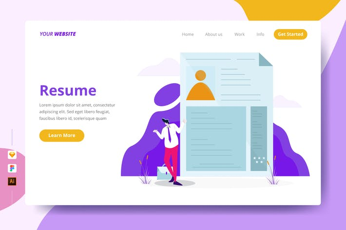 Thumbnail for Resume - Landing Page