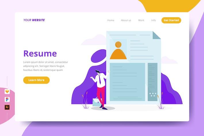 Thumbnail for Resume - Landing Page