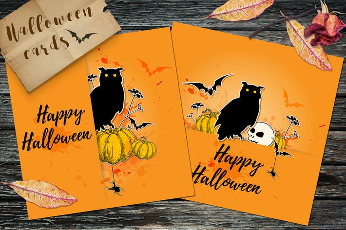 Thumbnail for Поздравительные открытки на Хэллоуин