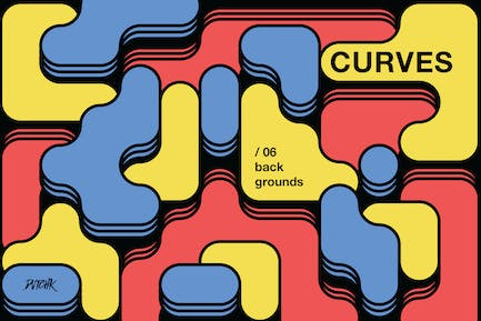 Curves   Rounded Colorful Blocks Backgrounds