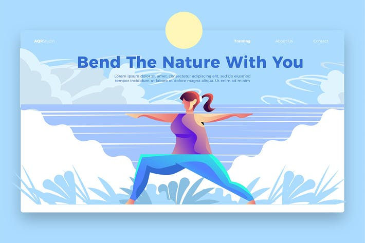 Thumbnail for Yoga Nature - Banner & Landing Page
