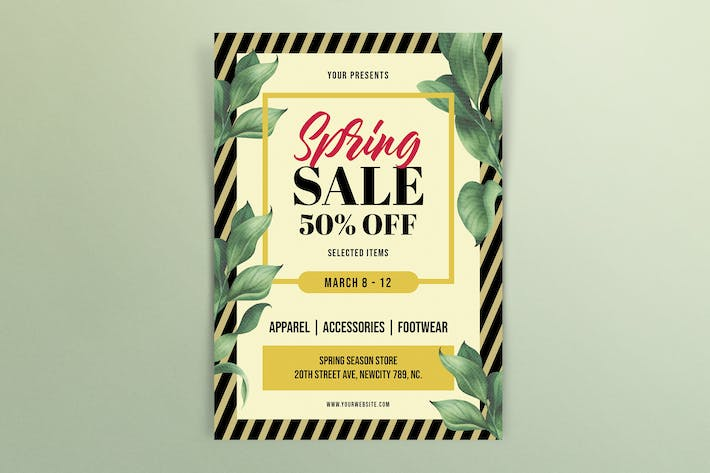 Thumbnail for Spring Sale Flyers Template