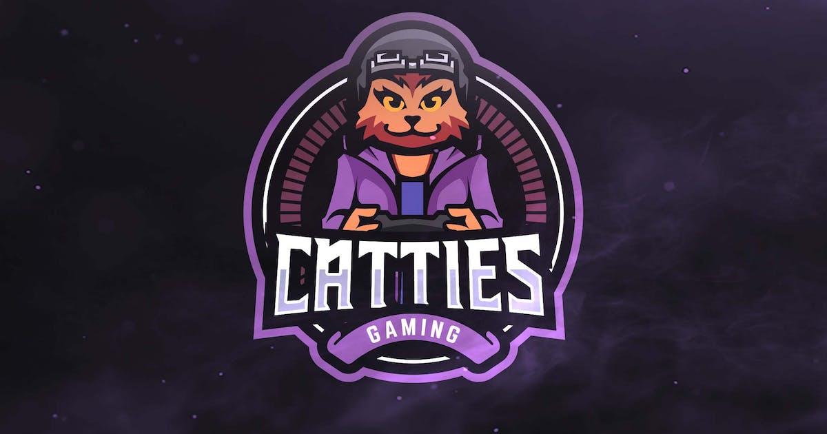 Catties Gaming Sport and Esports Logo by ovozdigital