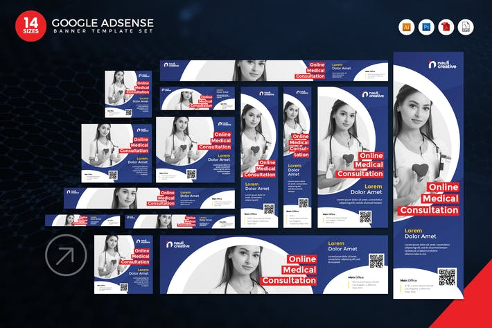Thumbnail for 14 Online Medical Google Adsense Web Banner