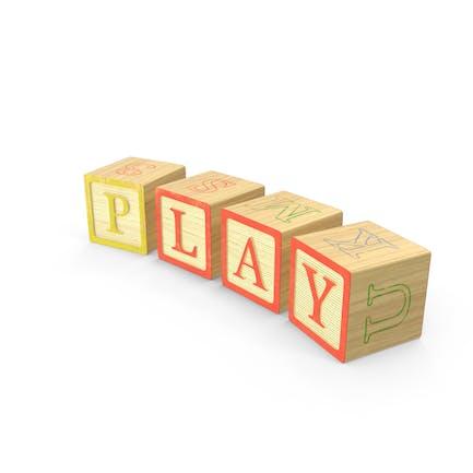 Juego de bloques de alfabeto