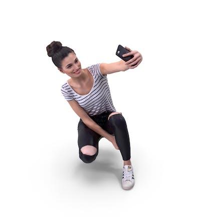 Casual Women Selfie Posed