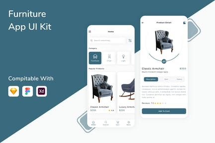 Furniture App UI Kit
