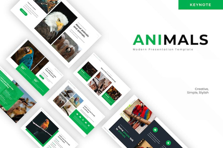 Thumbnail for Beautiful Animals - Keynote Template