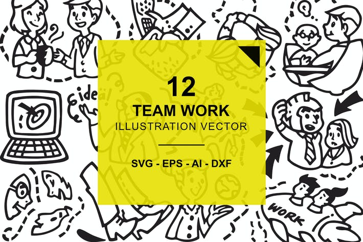 Thumbnail for Team Work Illustration Vector