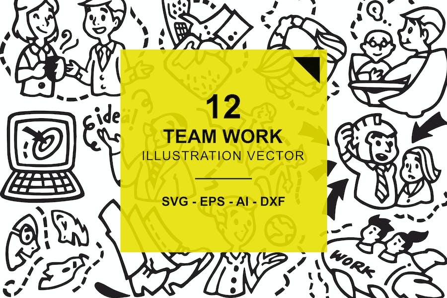 Team Work Illustration Vector