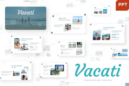Vacati - Трип Powerpoint Шаблон
